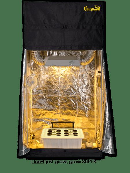2x4 Grow Tent - 400 Watt SuperRoom Hydroponic Grow Tent Kit