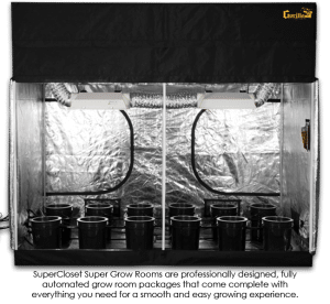 SuperCloset 4x8 SuperRoom Hydroponic Grow Room Complete Grow Tent Kit
