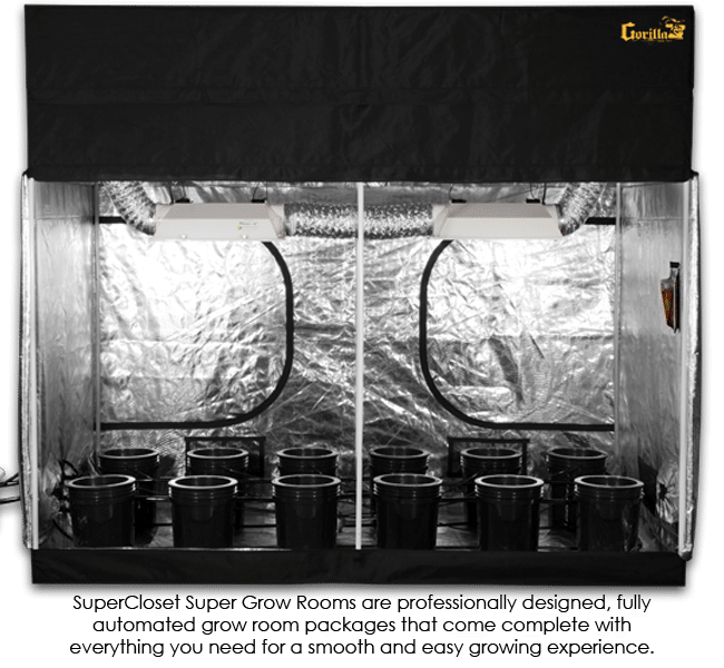 SuperCloset 5x9 SuperRoom Hydroponics Grow Tent