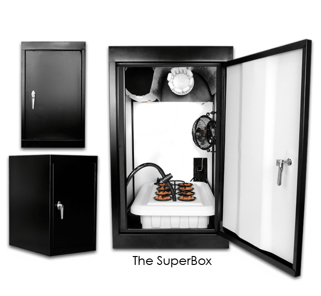 Supercloset Superbox 200watt Fully Automated Turnkey Stealth Growbox