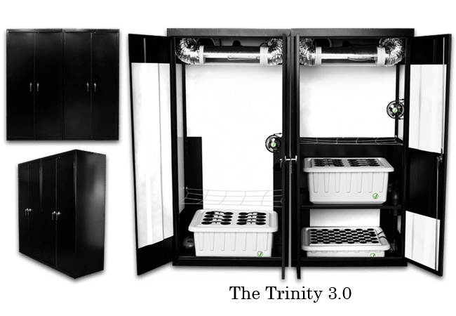 Stealth Grow Boxes For Sale   Supercloset Trinity 600w/400w/T 5 Triple
