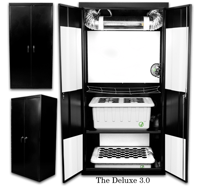 Supercloset Deluxe 400 Watt Stealth Hydroponic Grow Box