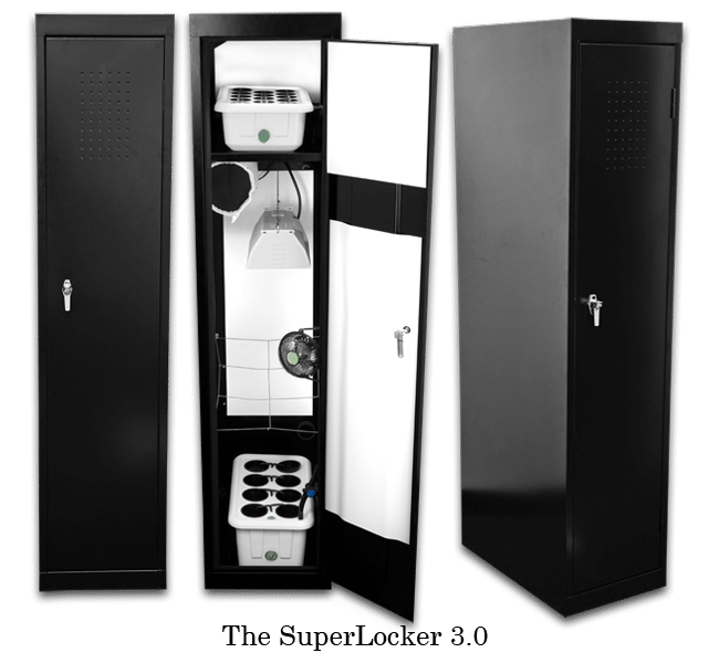 Supercloset Superlocker 150watt Hydrponic Grow Box Cabinet Closet System