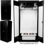 Stealth Hydroponic Grow Box – SuperCloset 600 Watt SuperFlower 3.0