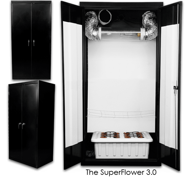 Stealth Hydroponic Grow Box SuperCloset 600 Watt SuperFlower 3.0