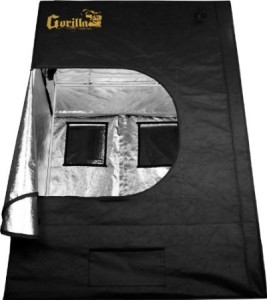 gorilla grow tent rear view