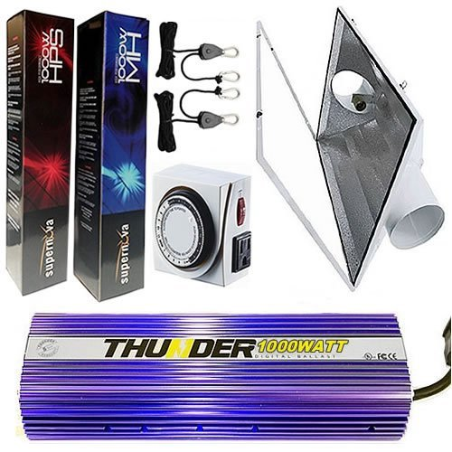 "Thunder 1000 Watt Digital Dimmable Grow Light System 6"" Air Cooled"