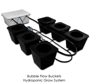 Bubble-Flow-Buckets - Supercloset Bubble Bucket Hydroponic System