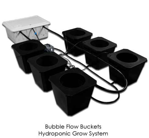 Supercloset Bubble Bucket Hydroponic System