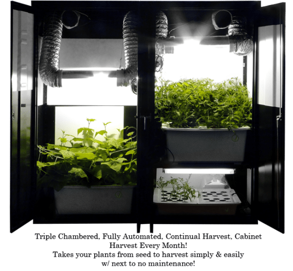 Supercloset Trinity 3.0 Grow Box 400w/T-5 Triple Chamber Grow Box System