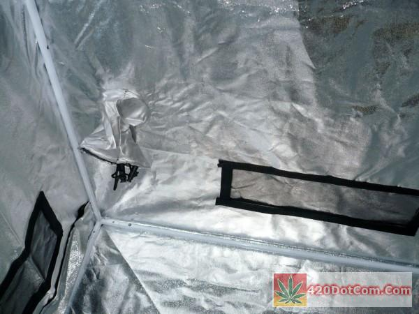aviditi grow tent corner and 4' vent details