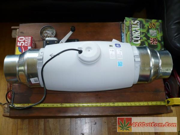 Grow Room Setup with a Soler & Pilau TD-200s 8 inch exhaust fan